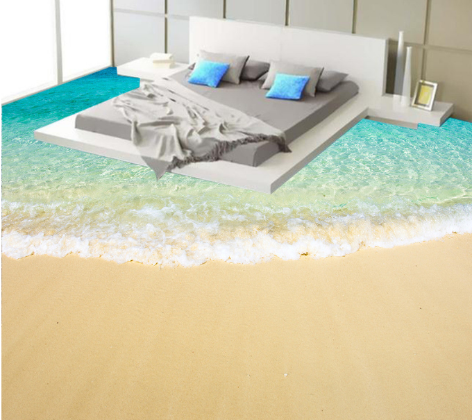 3D Golden Beach Sea 734 Floor WallPaper Murals Wall Print Decal AJ WALLPAPER US