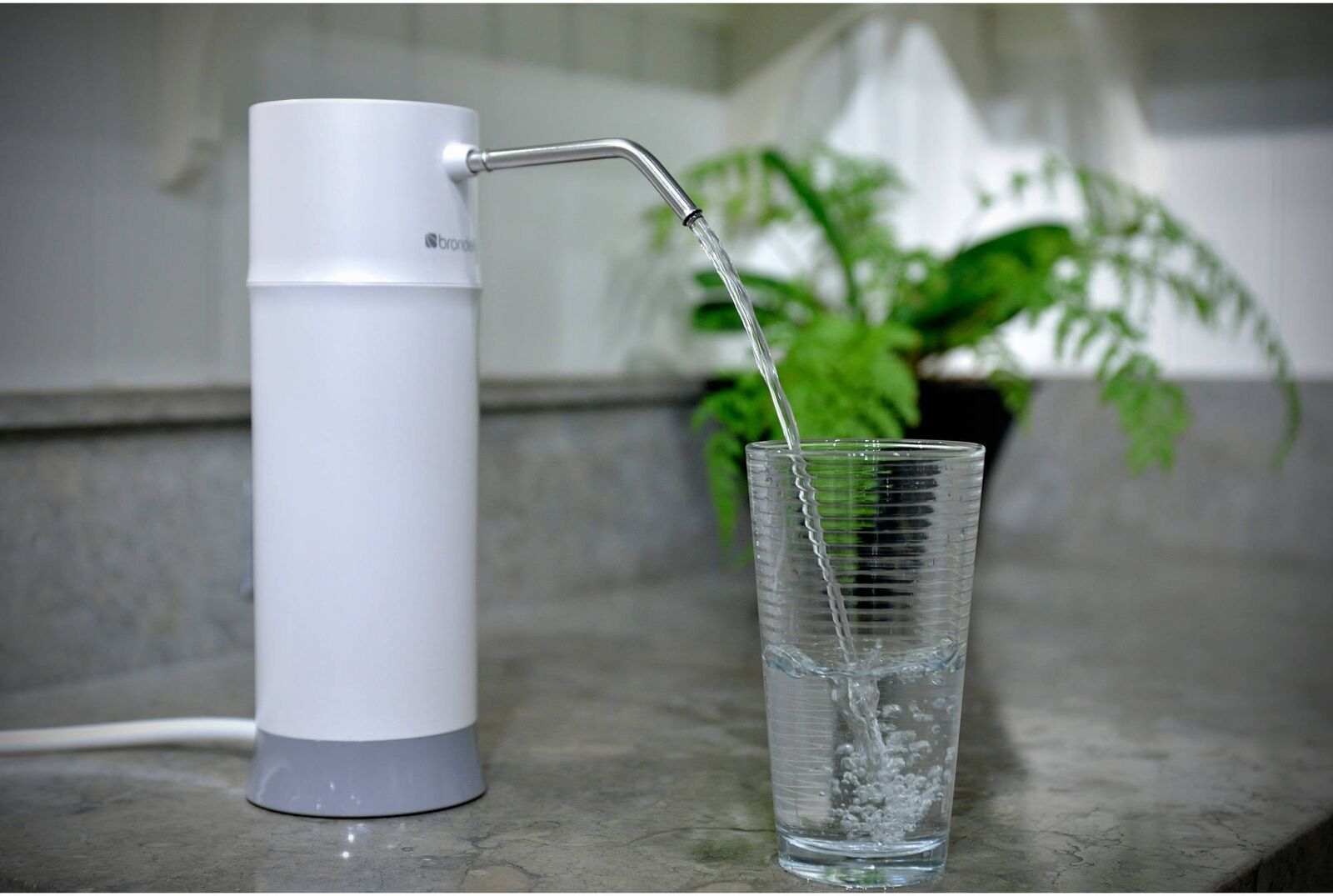 Comptoir Filtre à Eau Système cuisine robinets Big filtration Safe Fresh Blanc