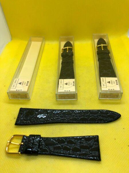 Viele 3 Jb Champion 17/8 22.20mm Reg Schwarz Kroko Kalb Leder Uhr Bänder #650 BerüHmt FüR AusgewäHlte Materialien, Neuartige Designs, Herrliche Farben Und Exquisite Verarbeitung