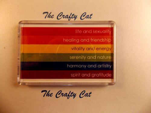 GAY PRIDE rainbow flag-sens des couleurs Aimant frigo