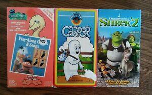 Vhs My Sesame Street Home Video Play Along Games And Songs Casper Shrek 2 Ebay
