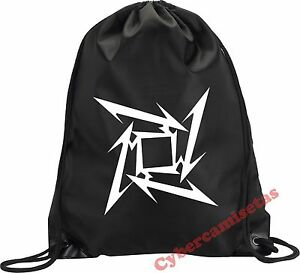 MOCHILA-BOLSA-SACO-METALLICA-NINJA-STAR-NEGRA-VARIOS-COLORES-BLACK-BACKPACK-BAG