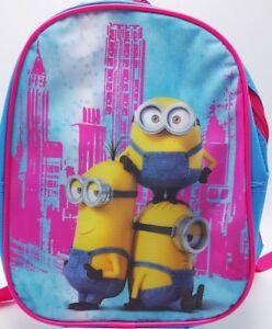 Girls-Minions-Mini-Backpack-Purse-Travel-Bag-8x10-New