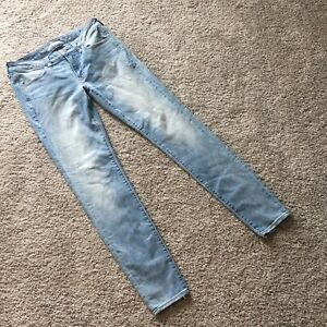 American-Eagle-Super-Stretch-Light-Wash-Skinny-Jeggings-Jeans-Size-8-Long