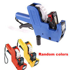 New Price Label Tag Marker Pricing Gun Handheld Labeller Stickers + Ink Roller