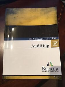 Details about Becker CPA Review Books, Auditing, FAR, BEC and REG,  Paperback textbook