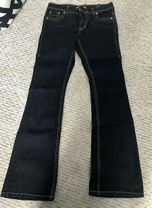 ROBERTO-CAVALLI-AT-H-amp-M-Ladies-Dark-Blue-BOOT-CUT-Leg-Jeans-W38-L32