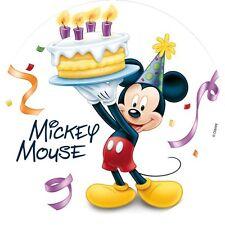 Micky Maus Azúcar Placa Decorativa Para Tartas Cumpleaños Niños Cumpleaños