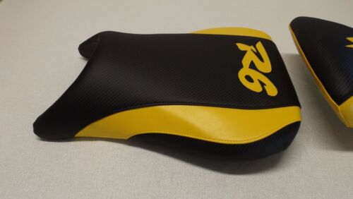 YAMAHA 99 00 01 02 YZF R6 FRONT SEAT COVER black//yellow