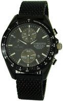 Riedenschild Chronograph Quarz Herrenuhr schwarz Saphirglas Milanaise 10ATMØ45mm
