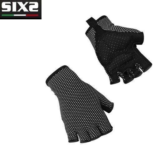 Handschuhe Hälfte Hälfte Hälfte dita X MIX Fahrrad Fahrrad SIXS schwarz Kohlenstoff 100% 0efce0
