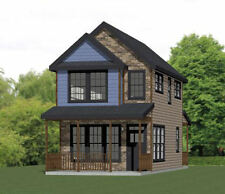 16x30 Tiny House -- 2 Bedroom  -- PDF Floor Plan -- 901 sq ft -- Model 22C