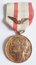 Médaille d'Honneur AERONAUTIQUE Vermeil attribuée ORIGINAL FRENCH silver MEDAL