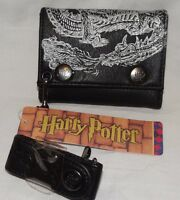 With Tags Hogwarts Black/silver Harry Potter Trifold Wallet