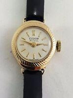 VINTAGE ROLEX TUDOR LADIES COCKTAIL WRIST WATCH IN 9 KARAT SOLID GOLD .SERVICED
