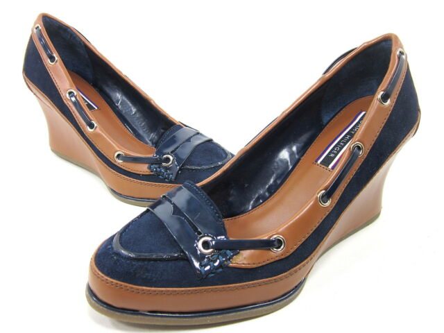 a10796964 Tommy Hilfiger Camille Wedge Sandal Womens Navy US Size 9.5 M EUR 39 ...