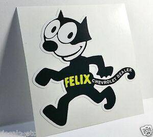 FELIX CHEVROLET Vintage Style DECAL, Vinyl STICKER, rat rod, racing, hot rod