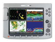 RAYMARINE E-120 CLASSIC MFD GOOD CONDITION MANUALS, CABLE, FLUSH MOUNT