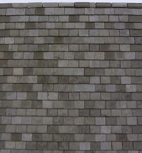 500 Minaco Miniature 1 24th Slate Grey Roof Tiles Only 163