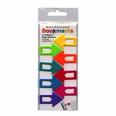 Multi-Reference Bookmarks Colourful Robust Page Markers Ideal for Home or Office