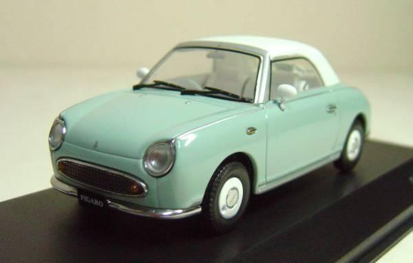 Nissan FIGARO 1 43 1 43 DieCast Closed Model Pale Aqua Kyosho RARE NEW