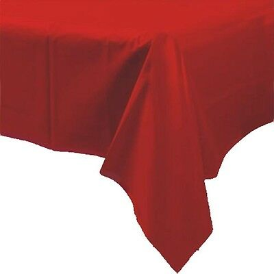 54in x108in Red Plastic Rectangular Wedding Party Tablecover
