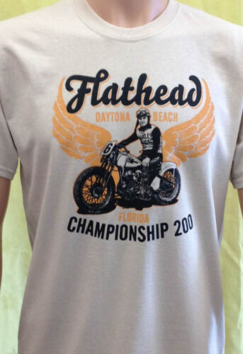 Daytona Beach Championship T Shirt Harley Davidson Flathead Indian Motorcycle