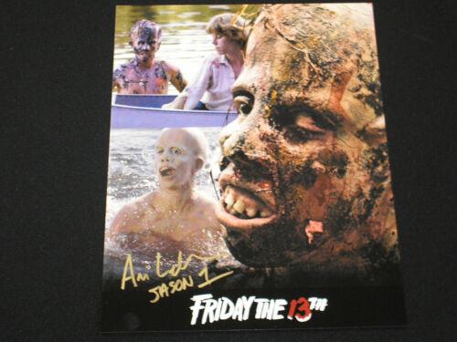 ARI LEHMAN Signed Multi Image 8x10 Photo Auto Jason Voorhees Friday the 13th J