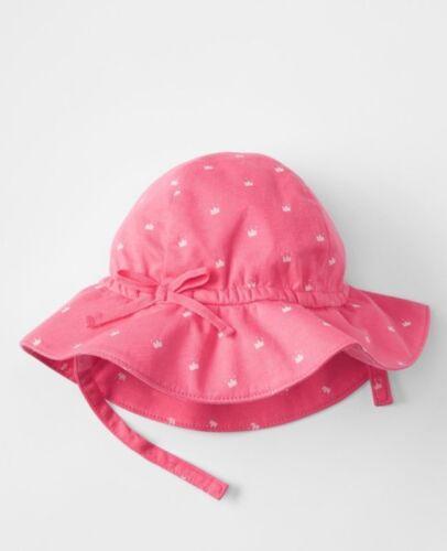 White Princess Crown Sun Beach Hat GAP Baby Girls Size 0-3 Months NWT Pink