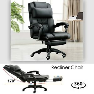 Executive-Racing-Gaming-Computer-Office-Chair-Leather-Swivel-Recliner-Desk-Chair