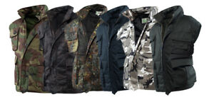 Outdoor-Weste-Army-Angler-Jagd-Ranger-M-L-XL-XXL-3XL-4XL-Schwarz-BW-Flecktarn