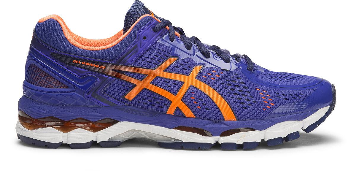 Asics Gel Kayano 22 Mens Durable Running shoes (D) (4330 Asics bluee Hot orange)