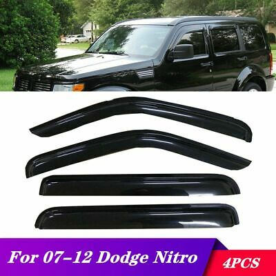 4pcs Smoke Tint Sun//Rain Guard Vent Shade Window Visors Fit 01-07 Ford Escape
