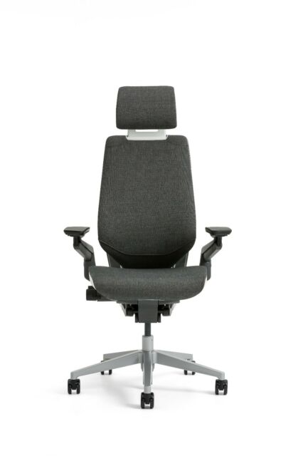 New Steelcase Gesture Chair Headrest Platinum Frame Seagull Seat Back Merle  Arms