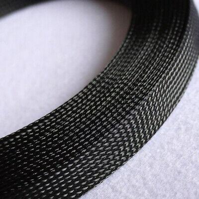 3m x 5mm Gewebeschlauch Geflechtschlauch Gewebe Schläuche Kabelschutz METERWARE