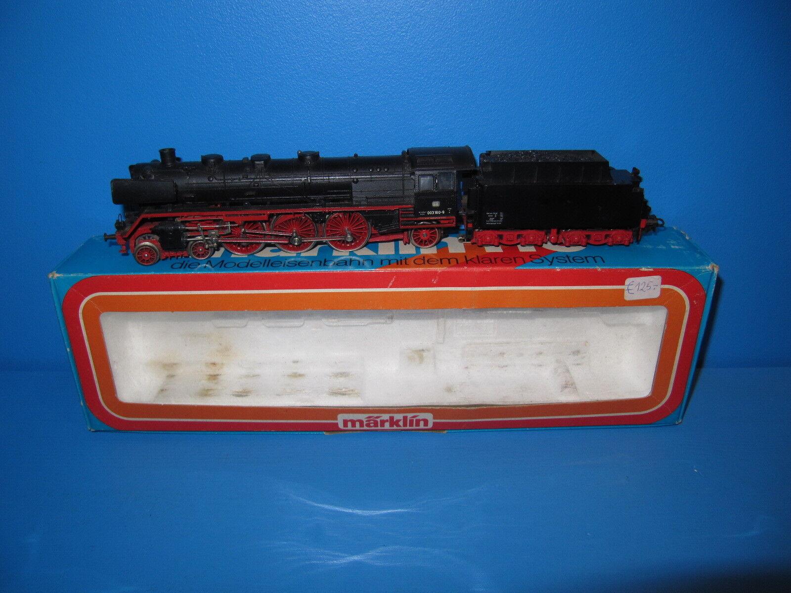 h0 locomotiva a vapore BR 003 160 - 9 delle DB in OVP no. 3085  239
