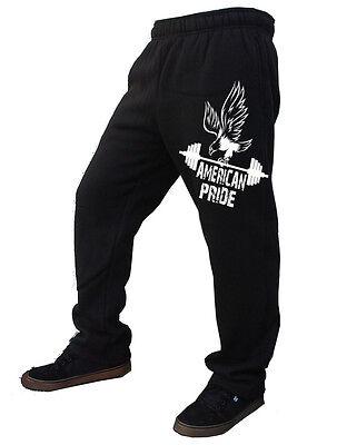 Men/'s American Pride Eagle Fleece Sweatpants Training Gym Running Sweat Pants