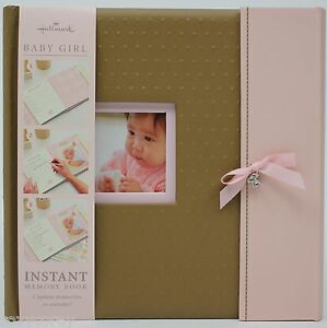 Hallmark-Brown-amp-Pink-Baby-Girl-Instant-Memory-Book-NWT