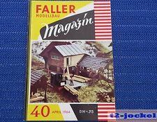 Faller  AMS --  Modellbau Magazin 40 von 1964 !