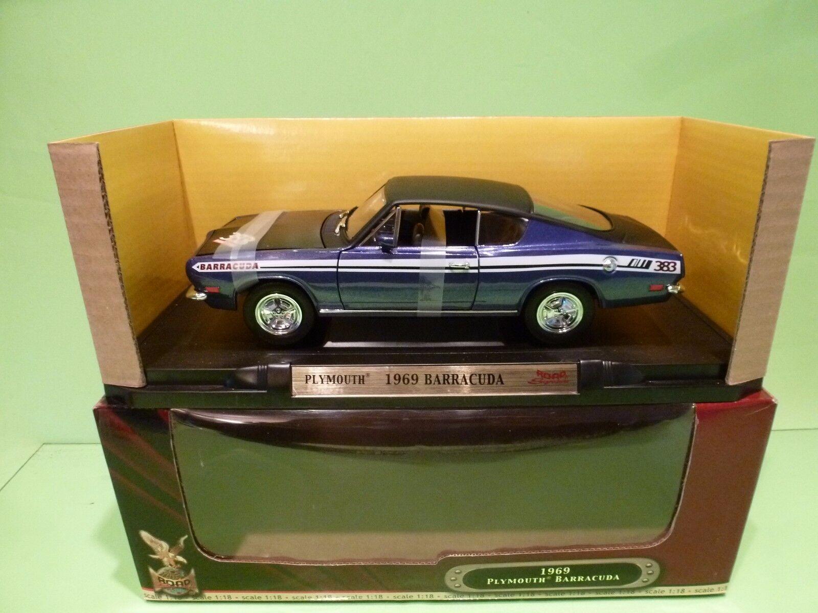 YATMING 92179 PLYMOUTH BARRACUDA 1969 1969 1969 - METALLIC púrpura 1 18 - EXCELLENT IN BOX c4a215