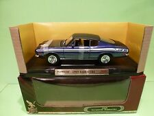 YATMING 92179 PLYMOUTH BARRACUDA 1969 - METALLIC PURPLE 1:18 - EXCELLENT IN BOX