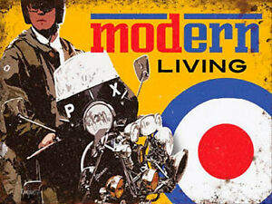 Mod Scooter Metal Sign, 2 Sizes Available Ideal For Pub, Bar, Man Cave Modern Q866ukkv-07233134-807243392