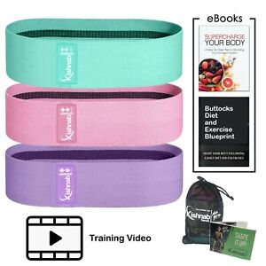 Resistance Bands Set for Legs & Booty Workout Hip Circle Fabric Loop Bands
