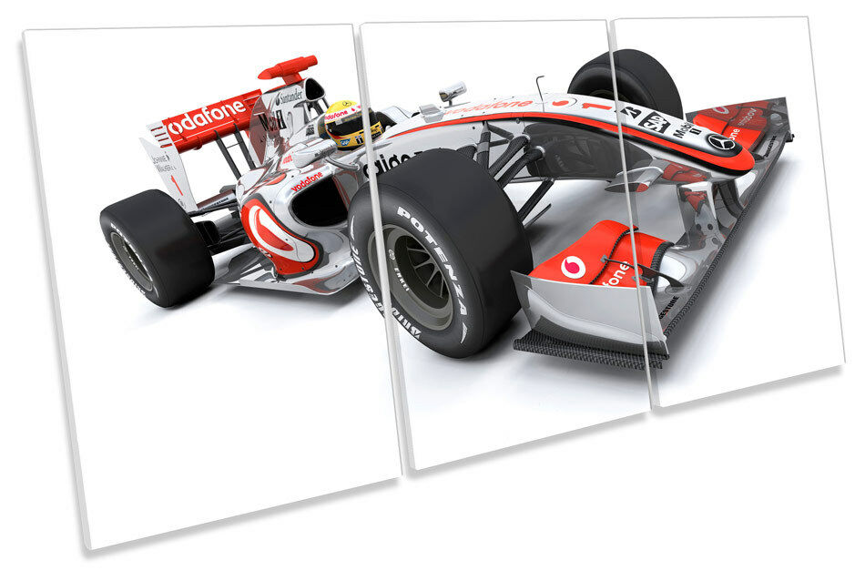 Formula One Race Car F1 Picture CANVAS WALL ART TREBLE Print