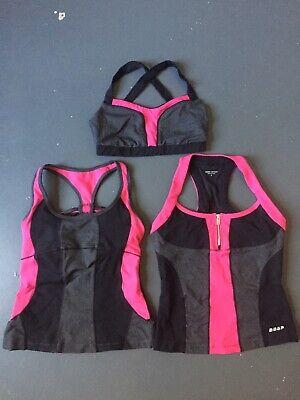 Bebe Sport Womens Fitness Workout Activewear Hoodie Top BHFO 8476