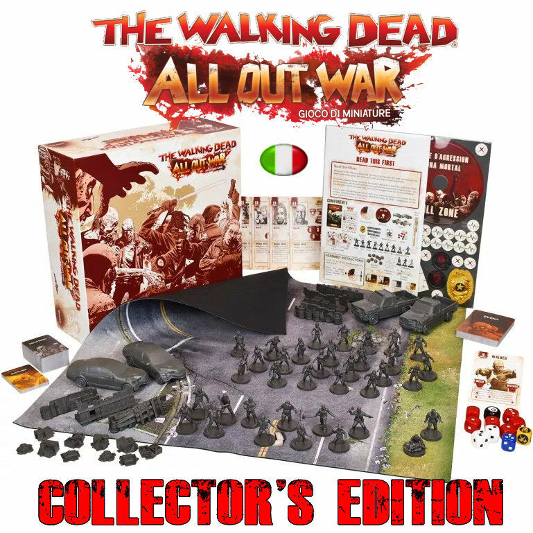 The Walking Dead, All Out War - Gioco di Miniature, Miniature, Miniature, Collector's Edition, Italian 6e1247