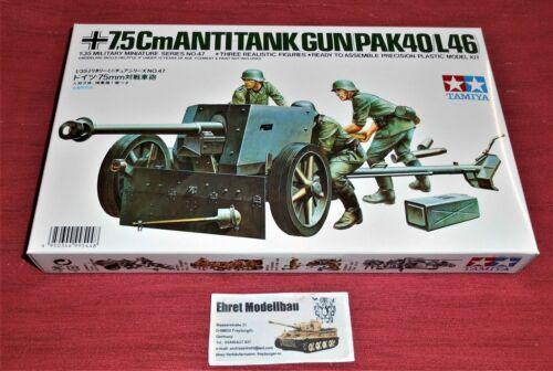WWII german deutsche 7.5 cm Anti-Tank Gun Pak 40//L46 in 1:35 Tamiya 35047 Neu