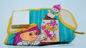 Trolls Kiddy Apron Crayons Notepad Toddler  S Vintage , New