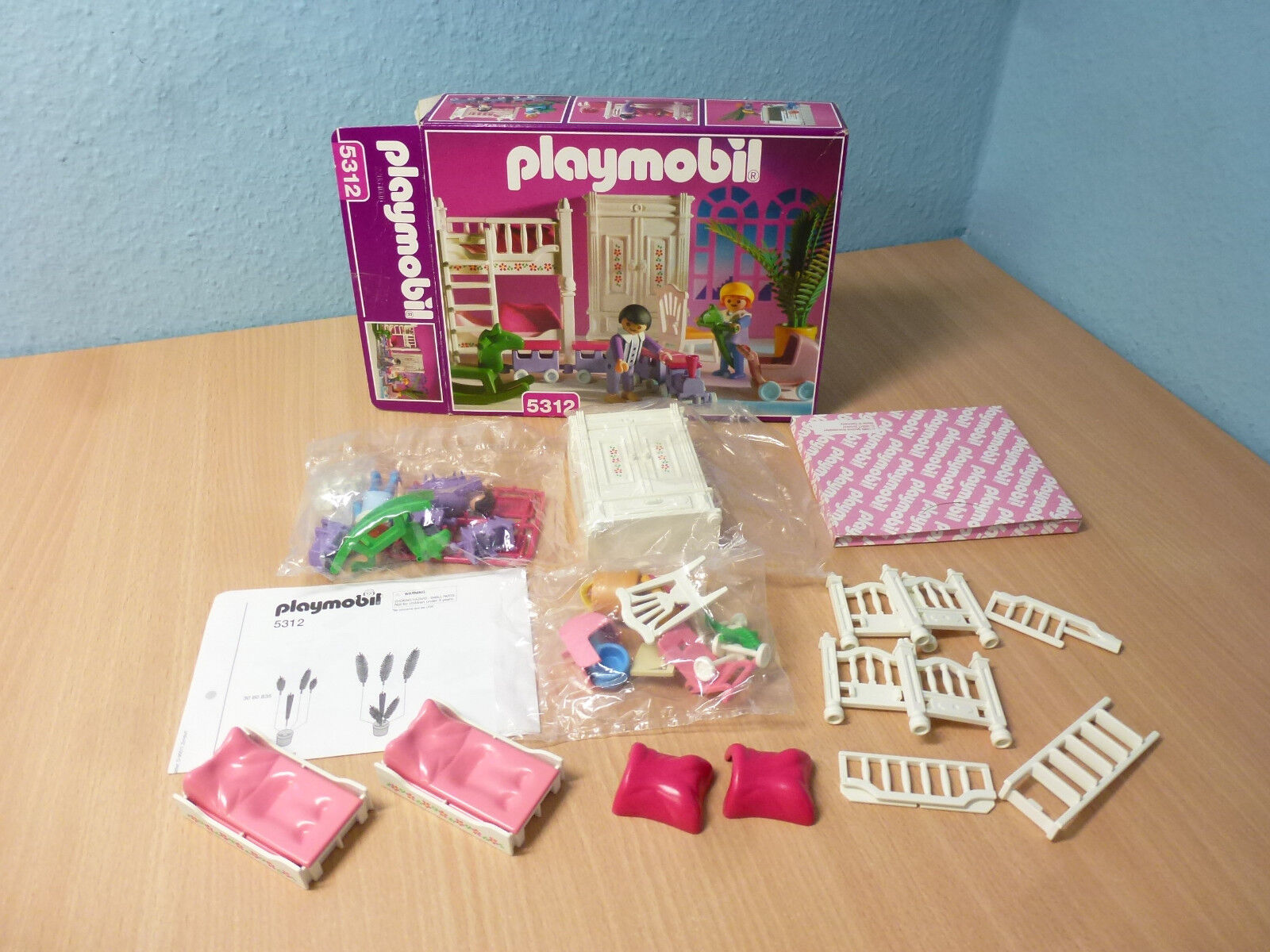5312 Kindezimmer zu Nostalgie Rosa Serie 5300 Puppenhaus 1900 OVP TOP Playmobil