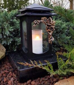 Sépulture sépulture Lampe Lampe Pour Tombe sépulture Lanterne Tombe Noir NEUF
